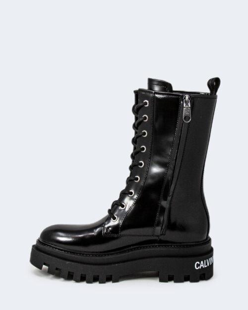Anfibi Calvin Klein FLATFORM MID LACEUP Nero – 72009