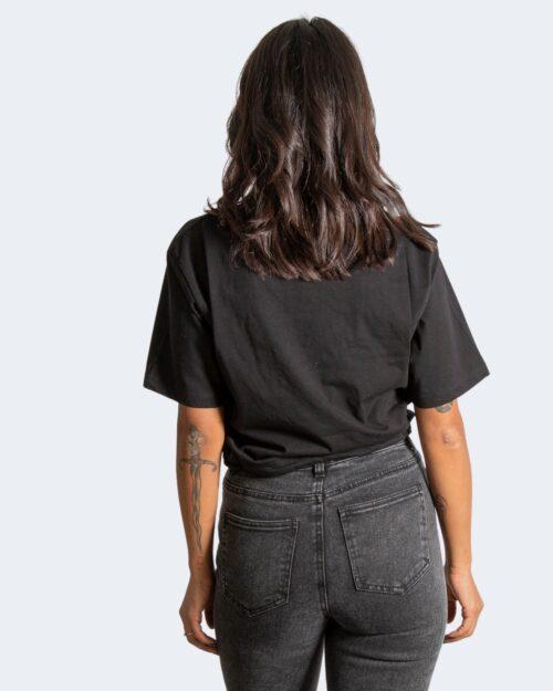 T-shirt Pyrex LOGO CONTORNO SILVER CORSIVO Nero – 77476