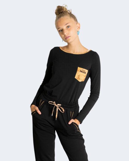 T-shirt manica lunga Alviero Martini Prima Classe CON TASCHINO Nero – 76908
