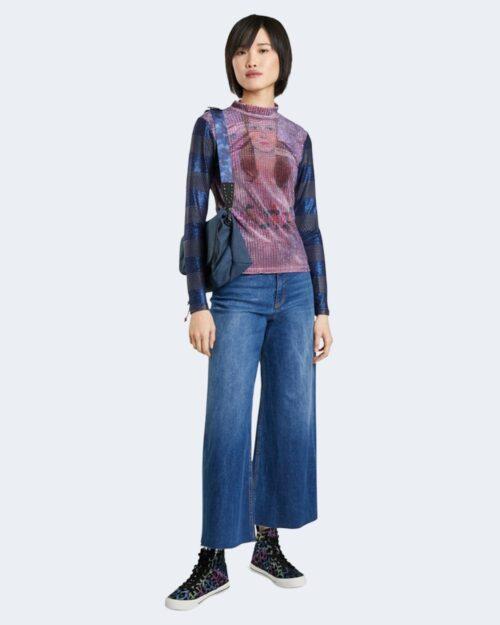 T-shirt manica lunga Desigual TEEN DREAM Viola – 73366