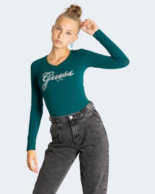 T-shirt manica lunga Guess IRADI Verde – 76844