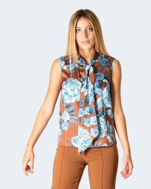 T-shirt manica lunga Rinascimento TOP TRAPEZIO Marrone – 78071