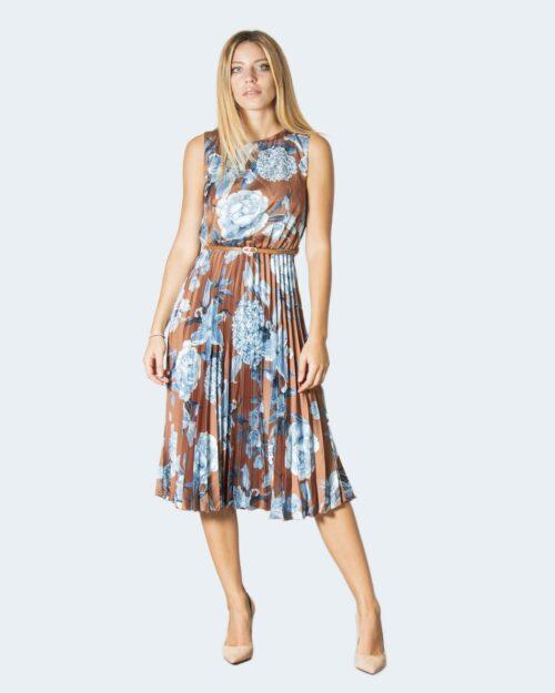 Vestito lungo Rinascimento FANTASIA FLOREALE Marrone – 78034