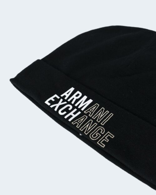 Berretto Armani Exchange STAMPA LOGO Nero – 80100