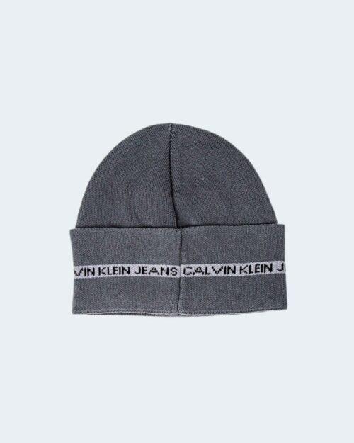 Berretto Calvin Klein MONOGRAM COTTON TAPE Grigio Scuro – 77846