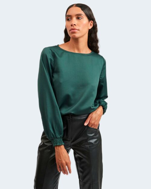 Bluse manica lunga Vila Clothes VILADEE BOATNECK Verde Scuro – 78017