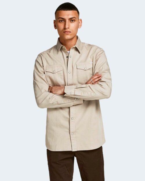 Camicia manica lunga Jack Jones SHERIDAN Beige – 21537