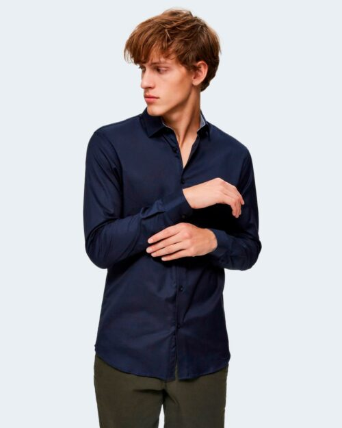 Camicia manica lunga Selected SLHSLIMNEW-MARK SHIRT LS B NOOS Blu – 80062