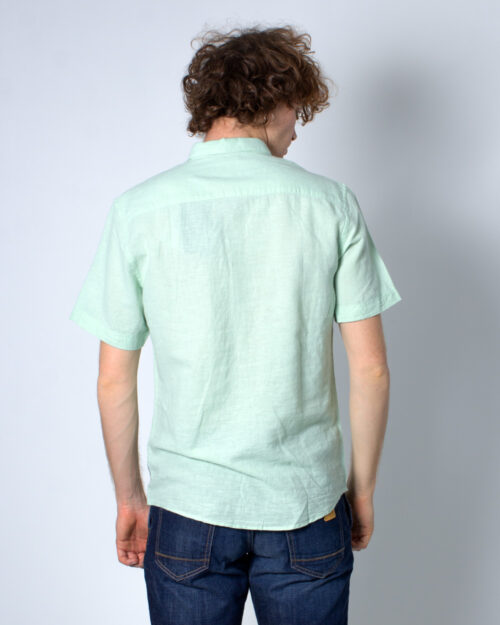 Camicia manica corta Only & Sons Caiden SS Linen Shirt Re Verde – 30875