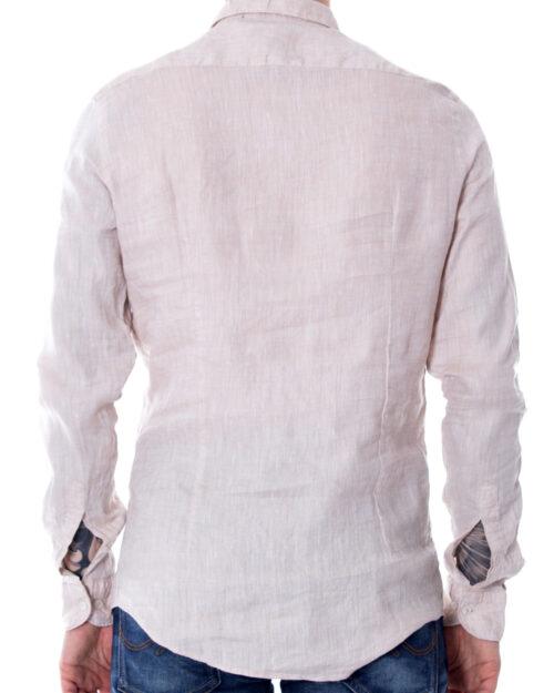 Camicia manica lunga Idra CAMICIA SLIM MODELLO FRANCESE Beige – 17975