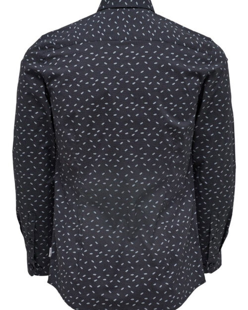 Camicia manica lunga Only & Sons ALFREDO LS DITST AOP SHIRT Blue scuro – 27451