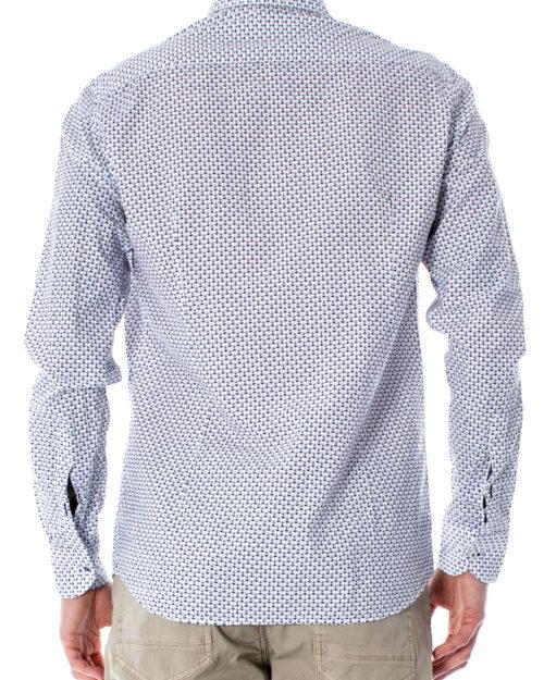 Camicia manica lunga Primate STAMPA Bianco – 28961