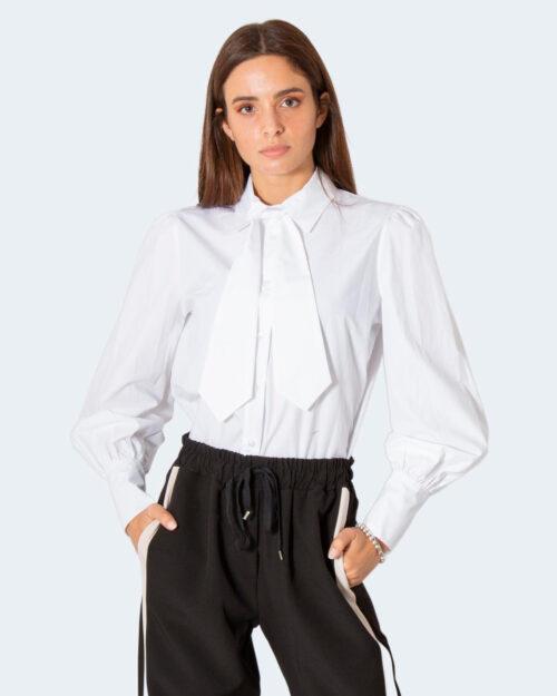 Camicia manica lunga Akè COLLO CON CRAVATTA Bianco – 79448