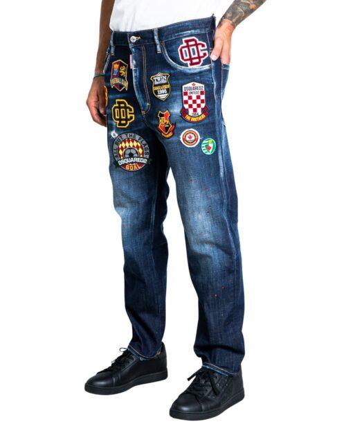Jeans slim Dsquared2 JEANS BRAD Dark Blue Denim – 76778