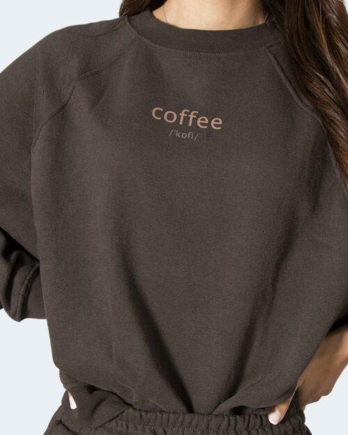 Felpa senza cappuccio Only ONLBELLA LIFE Caffe' – 71826