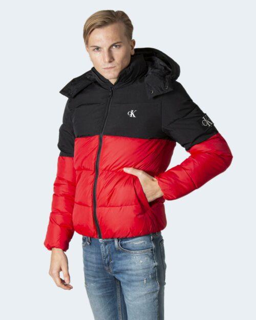 Piumino Calvin Klein COLORBLOCK HOODED PU J30J318682 Rosso – 71960