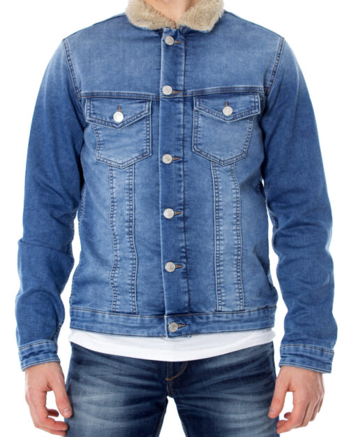 Giacchetto Jack Jones Earl Jacket Jos 056 Indigo Knit Denim – 29412