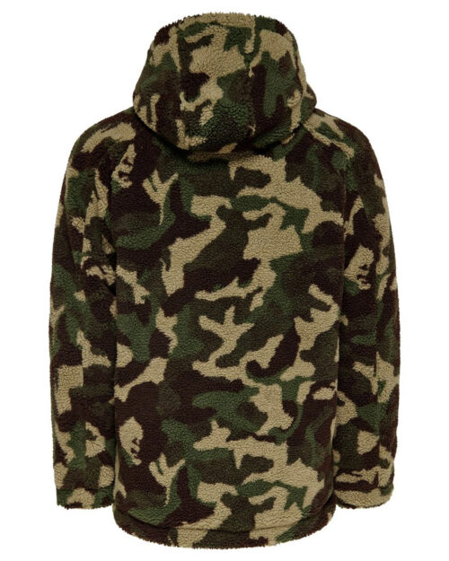 Giacchetto Only & Sons BANE SHERPA HOODIE JACKET Verde – 23052