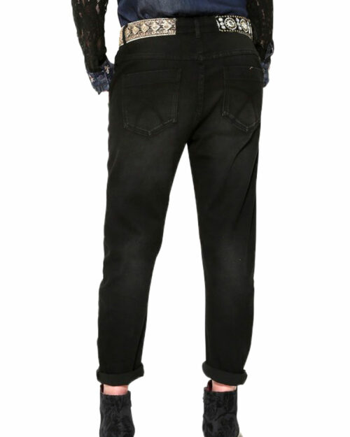 Jeans baggy Desigual Denim Camel Boyfriend Blue Denim Scuro – 15216