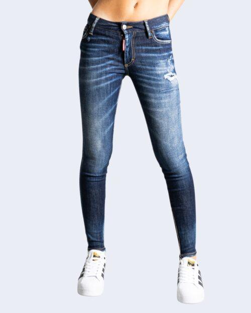 Jeans skinny Dsquared2 LOGO TASCA RETRO Denim scuro – 76582