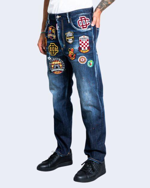 Jeans slim Dsquared2 BRAD JEAN Dark Blue Denim – 76586