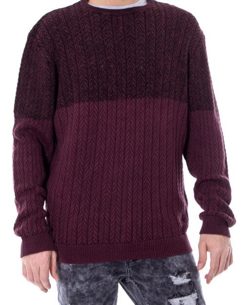 Maglione Only & Sons HUGO 7 WASHED BLOCKED KNIT Bordeaux – 21918