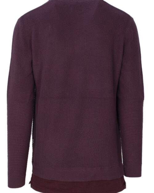 Maglione Only & Sons LEWIS 12 STRUCTURE MIXED KNIT Bordeaux – 21817