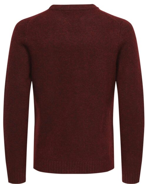 Maglione Only & Sons PATRICK 5 CREW NECK KNIT Bordeaux – 22896