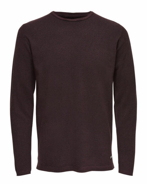 Maglione Only & Sons TED CREW NECK Bordeaux – 14744
