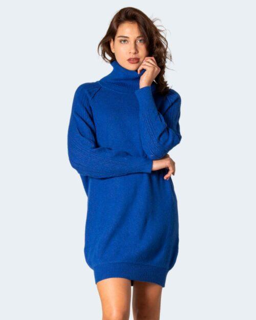 Vestito corto Sandro Ferrone COLLO ALTO Azzurro – 79946