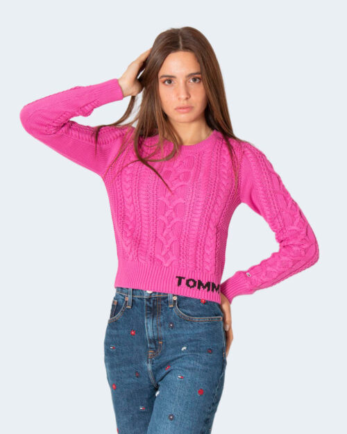 Maglione Tommy Hilfiger CABLE SWEATER Fuxia – 72026