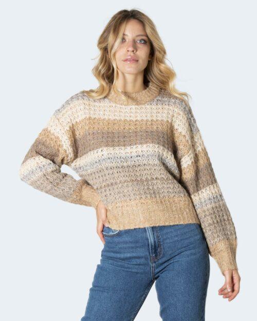 Maglione Vila Clothes VIA BRIL L/S KNIT TOP/SU Beige – 79394