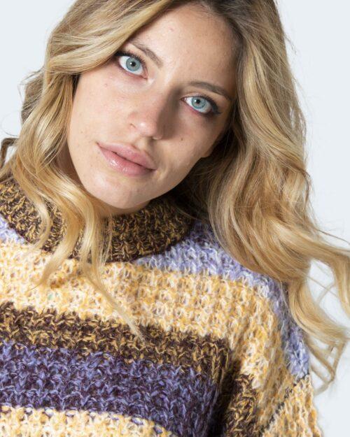 Maglione Vila Clothes VIA BRIL L/S KNIT TOP/SU Viola – 79394