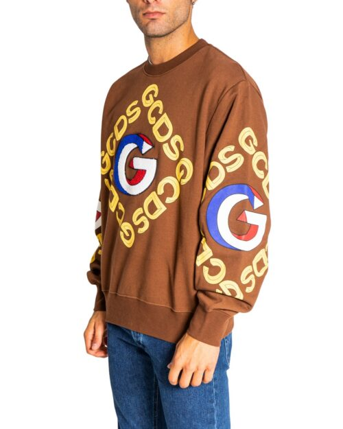 Felpa senza cappuccio Gcds LOGO GOLD Marrone – 75029