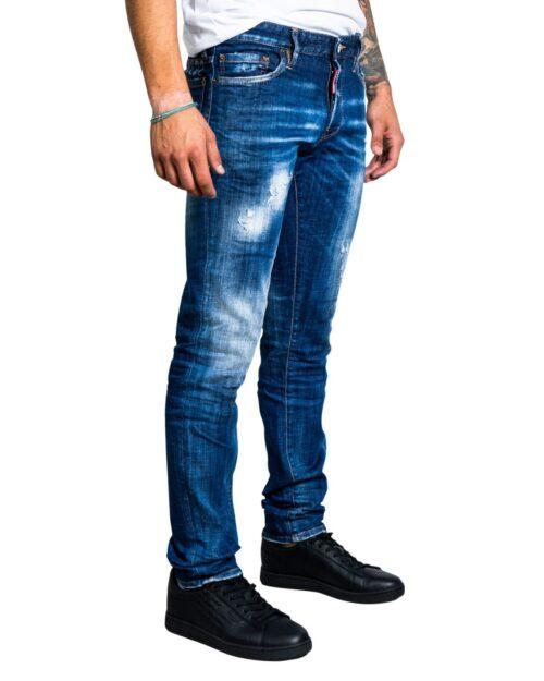 Jeans slim Dsquared2 STAMPA LOGO RETRO Denim scuro – 76585