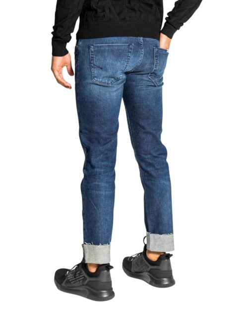Jeans Tapered Siviglia RISVOLTO 5 TASCHE Blue Denim – 76638