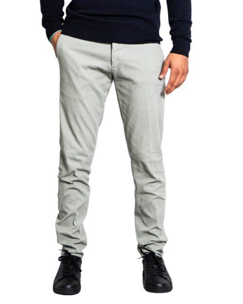 Pantaloni slim Siviglia TINTA UNITA DOPPIO BOTTONE Grigio Chiaro – 76572