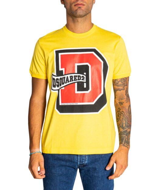 T-shirt Dsquared2 LOGO BIG LETTER Giallo – 76697