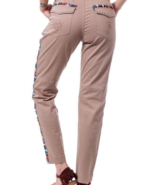Pantaloni a sigaretta Desigual PANT LAUREN Beige scuro – 30499