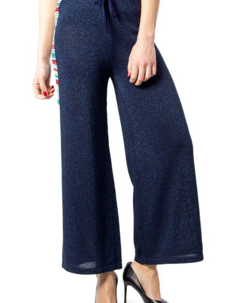 Pantaloni a palazzo Desigual PANT ATENAS Blue scuro – 39614