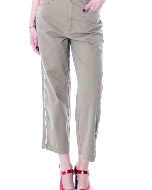 Pantaloni a sigaretta Desigual PANT ERITREA Verde – 23688