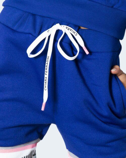 Pantaloni sportivi Chiara Ferragni 131 MAXI LOGOMANIA Azzurro – 78040
