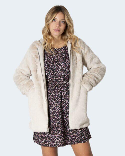 Pelliccia ecologica Only Malou Faux Fur Coat Grigio Chiaro – 60030