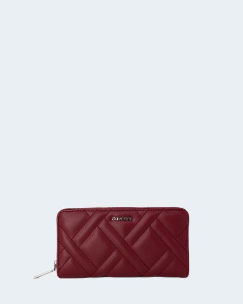 Portafoglio grande Calvin Klein QUILT Bordeaux – 77796