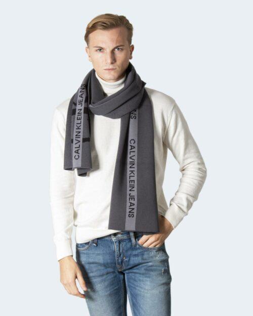 Sciarpa Calvin Klein COTTON TAPE SCARF Grigio Scuro – 77848