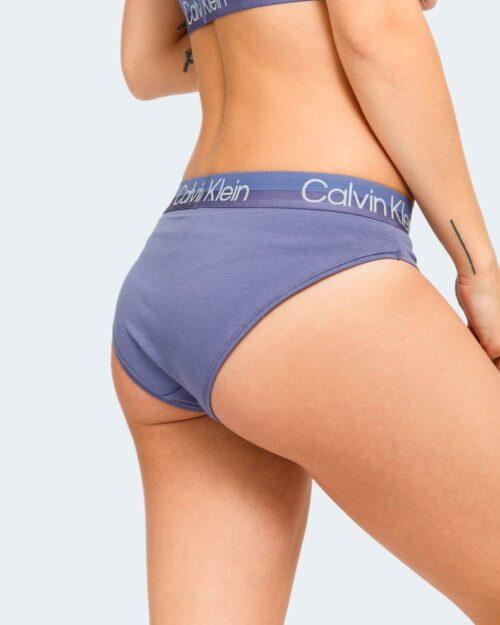 Calvin Klein CHEEKY BIKINI BLEACHED DENIM Viola – 79054