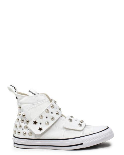 Sneakers Converse CHUCK TAYLOR ALL STAR STRAP HI PERSONALIZZATA Bianco – 31013