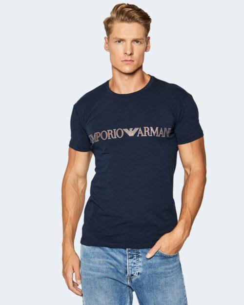 T-shirt intimo Emporio Armani Underwear MAN KNITTED LOUNGEWEAR Blue scuro – 78688