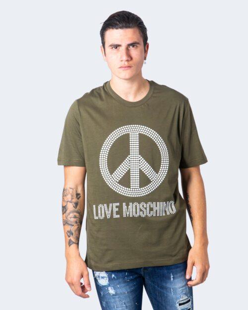 T-shirt Love Moschino STAMPA PACE Verde – 56221