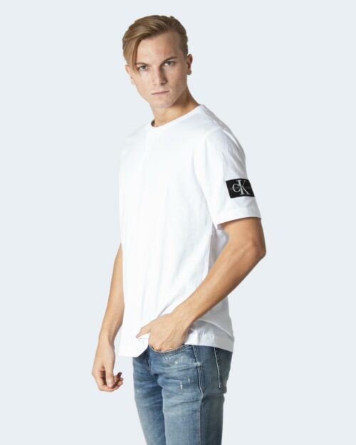 T-shirt Calvin Klein MONOGRAM SLEEVE Bianco – 71971